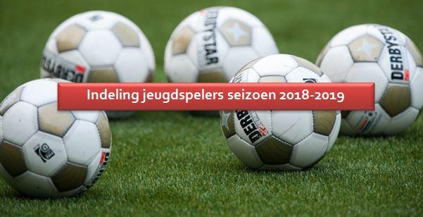 Indeling 2018-2019
